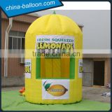 3mWx3mLx4.5mH yellow inflatable lemon stand bar booth hot sale