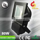 3 years warranty IP65 80w outdoor led flood lighting for volleyball court with independent-developed driver