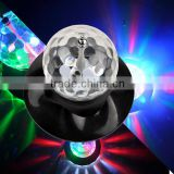 2015 new mini led disco ball light sunflower light with crystal magic ball stage lighting