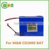 12V 3800mAh Ni-Mh battery pack rechargeable replacement battery for M&B CD2000 CD2000 BAT replacement battery