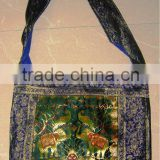 Latest Fashion Ethnic Hippe Hobo Jacquard silk elephant design Indian hobo shoulder bags
