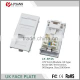 LY-FP35 UTP Cat .6 Module UK type Krone IDC Termination 90 Degree face plate