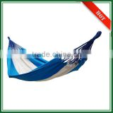 Retail Custom Logo Single Cotton Outdoor Hammock with Rope