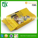 Laminated printed wholesale tea coffee pouch design side gusset in alibaba
