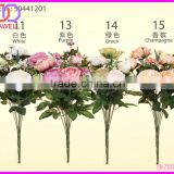wholesale 12 heads multi colored silk artificial rose plants