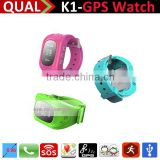 Wrist watch phone gps tracking device for kids / Position monitoring gps watch kids /Sos calling child watch T