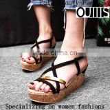 2016 Open toe fashion high-heeled waterproof platform women wedge shoes wedge sandals PQ4351