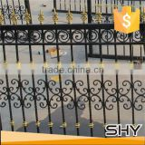 Wrought Iron backyard metal steel flat bar fence