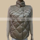 2014 hot sale Winter Padded Vest fashion dark beige high quality down vest/weight vest/women vest