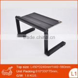 Portable plastic swivel joint computer table design used in bed sofa stand