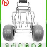 Mobility Folding Utility Cart BEACH TROLLEY tool cart Lightweight Foldable Large Balloon wheel Sand Wheels Transport Picnic Park