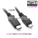 1M USB 3.1 C Type C connector Male to Micro USB male Data Cable for tablet&smart phone