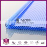 width 600mm roofing u-lock four wall honeycomb polycarbonate sheet, multiwall polycarbonate sheet/cellular pc panel