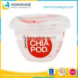 IML Greek Yogurt Container Sizes Manufacturers, Plastic Yogurt Cup Design with printing Suppliers