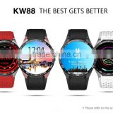 Android system wifi watch 3G Bluetooth smart watch waterproof GPS KW88 heart rate monitor watch for all mobile