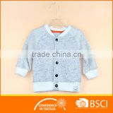 Infant Baby Jacket Melange Grey Fancy Snaps Outfit Clothing