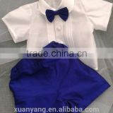 100% Cotton Hot Sale Children's Formal Dress Cotton Child Suit Kids Clothes Clothing Set