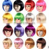 Walson 2015 Bob Wig Fancy Dress Costume 20s 50s Short Fringe Style Cosplay Party Hair Womens