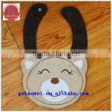 Waterproof cute bear face baby bibs