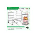 Free standing Wire mesh shelving units / Wire Display Racks for Supermarket equipment