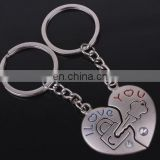 Fashion Hot Sale Love You Letters Lock&Key Heart Keychain Couple Valentine's Day Gift