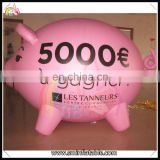 New Design inflatable pig balloon,pink cartoon characters,advertising inflatable pig model