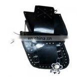 Motorcycle Leather Saddle Bags HMB-4041A