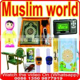 wall Azan clock, mosque azan clock LED, remote control 2000cities H312