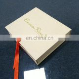 Handmade apparel cream paper box clothes packaging supplies for gift clothes packaging
