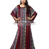 2017 India Ethnic Wear Pritned Kaftans / Womens Casual Wear Long Japan Satin Silk Kaftans / Beach Wear Kaftans