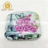 Purse Handbag Double Cosmetic Souvenir Compact Square Mirror
