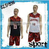 2016 newest design mens/women's long/short sleeves basketball jersey maker from china
