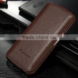 Cowhide Leather Flip Case for Samsung Galaxy S6, Mobile Phone Accessary Smart Case for Samsung Galaxy S6 edge
