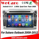 Wecaro WC-SU7069 android 4.4.4 car gps for subaru outback 2009 2010 2011 2012 3G wifi playstore                                                                         Quality Choice