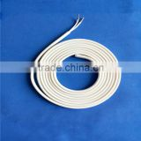 Draining silicone heater heating band for air conditioners