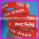 fashion one world one dream silicone red bracelet