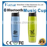 High Quality Double Wall Thermos Vacuum Drinking Cup, Music Mini Bluetooth Speaker, Bluetooth Music Speaker