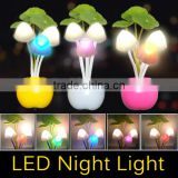 EU US Plug Electric Induction Dream Mushroom Fungus Lamp 3 LEDs Nightlight bulb home decor LED RGB breathing Night lights 1pcs