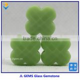 Wholesale Price Four Leaf Flower Milk Glass Stone Made In China