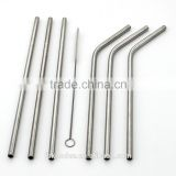 USA best selling Reusable Straws Stainless Steel / Milk Drinking Straws / food grade stainless steel Straight Straw
