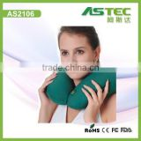 Portable u shape massage travel pillow filled with polystyrene beads