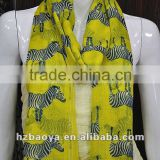 Zebra Print Soft Celebrity Scarf Animal Fashion Animal Fashion Large Long Shawl Seen In Baoya