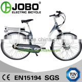 Popular In Europe Front Drive Motor 700C E-Bicycle, Inner Gear 7 Speed , Roller Brake JB-TDB28Z