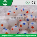 China decorative solid dot glass marble balls for garden and craft