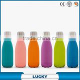 550Ml Tritan Bpa Single Wall Glass Free Baby Water Bottle With Lid And Round Silicone Sleeve