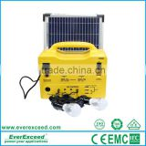 EverExceed 30w portable Solar Home System with Bulbs, Mobile Charger and Radio for solar lighting