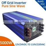 dc/ac inverter 50Hz/60hz frequency pure sine wave inverter 24v 220v 5000w                                                                                                         Supplier's Choice
