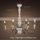 spiral crystal chandelier, industrial vintage interior hotel pendant lighting,vintage candle chandelier wood