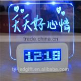 2015 Innovative Products Desktop Clock Alarm Clock with USB Hub Calendar LED Digital Clock