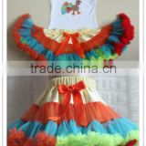 Hot sale ! baby clothes tutu Thanksgiving day item kaiya skirt